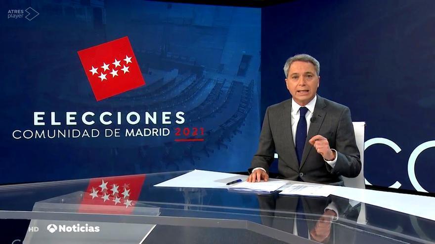 Vicente Vallés, en 'Antena 3 Noticias 2'