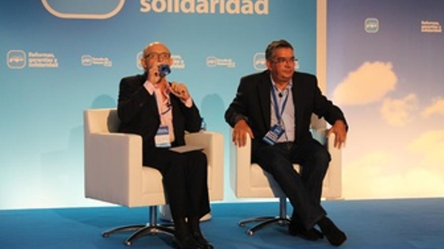 Crstóbal Montoro Y José Manuel Vela En La Escuela De Verano Del PP.