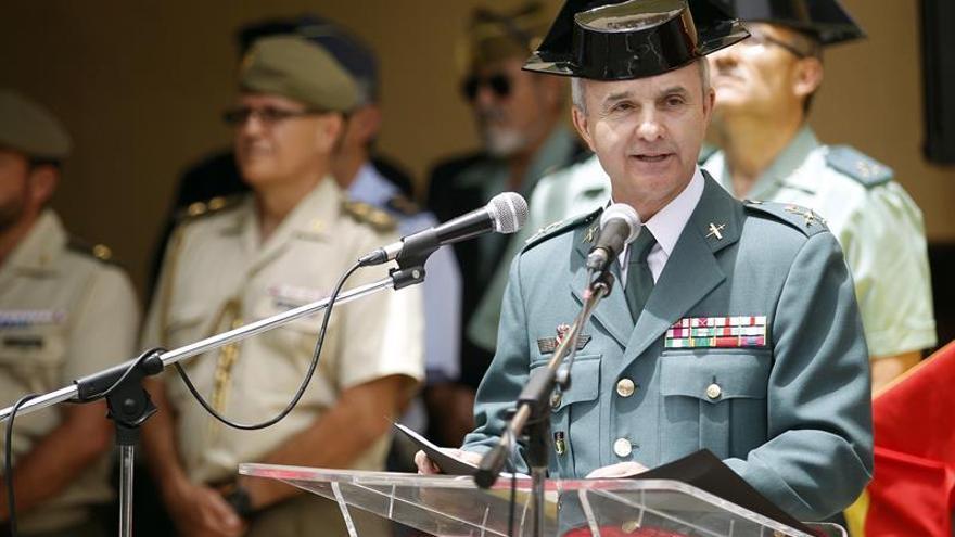 El general de brigada Juan Miguel Arribas, durante su toma de posesión como Jefe de la Zona de la Guardia Civil de Canarias