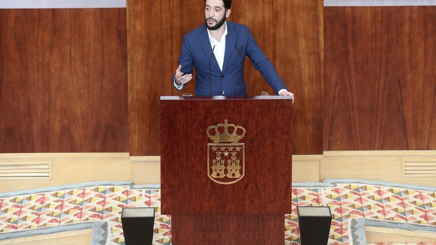 El portavoz de Ciudadanos en la Asamblea de Madrid, César Zafra, interviene durante la segunda jornada del Pleno del Debate del Estado de la Región en Madrid (España), a 15 de septiembre de 2020. En esta segunda sesión participarán los grupos parlamentari