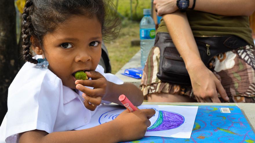 Muchos de los proyectos de cooperación están enfocados al apoyo educativo.