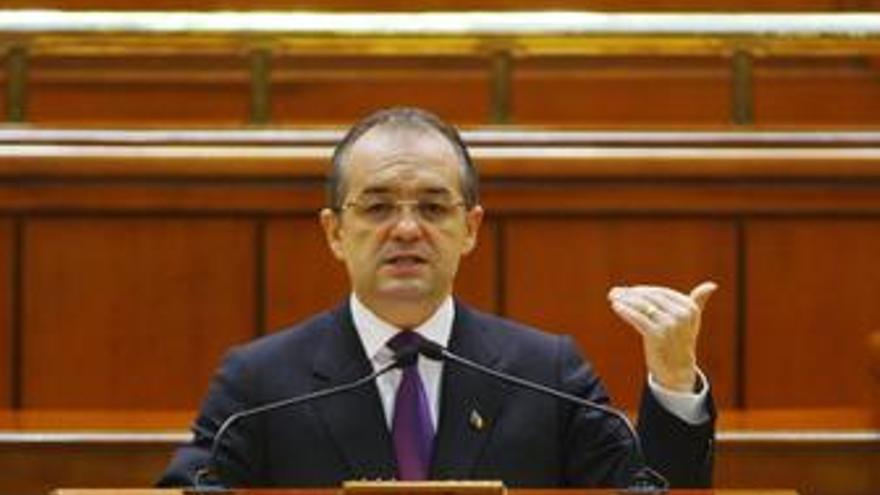 Emil Boc, primer ministro de Rumanía