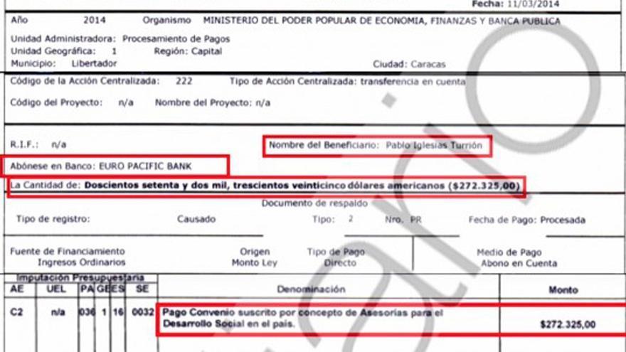 Captura OKDiario sobre Pablo Iglesias