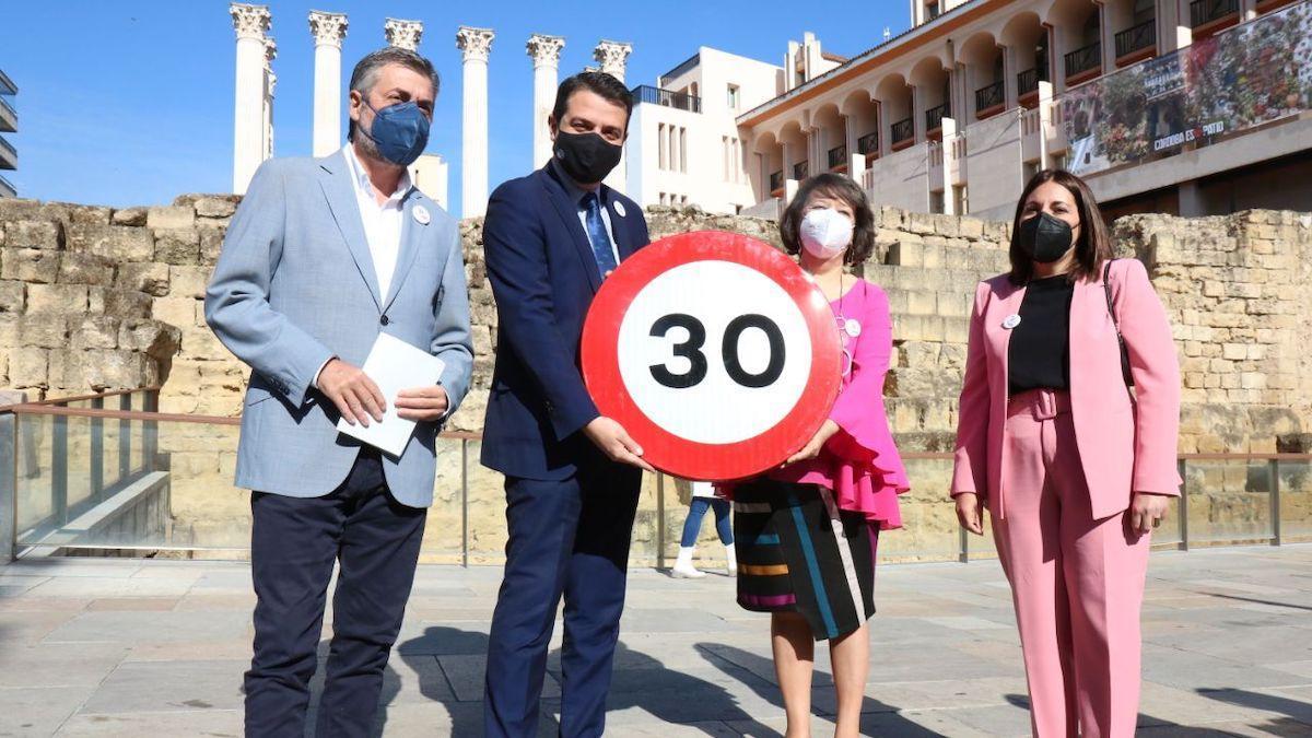 Presentación de la limitación de velocidad en Córdoba