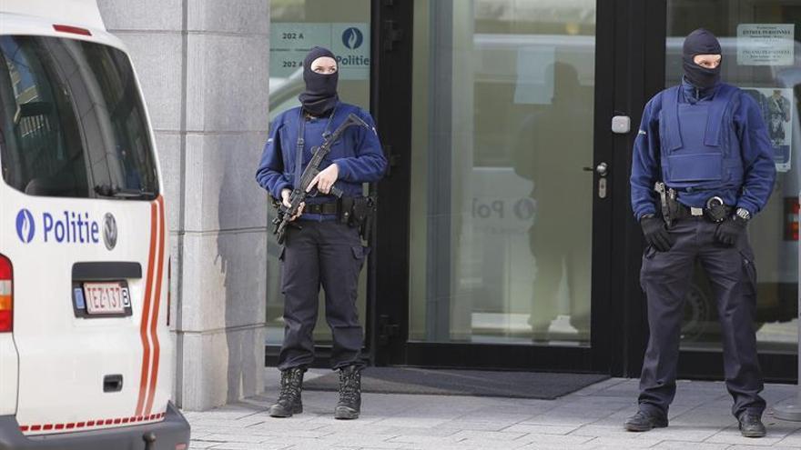 Detenido un sospechoso de terrorismo en una operación policial en Bruselas