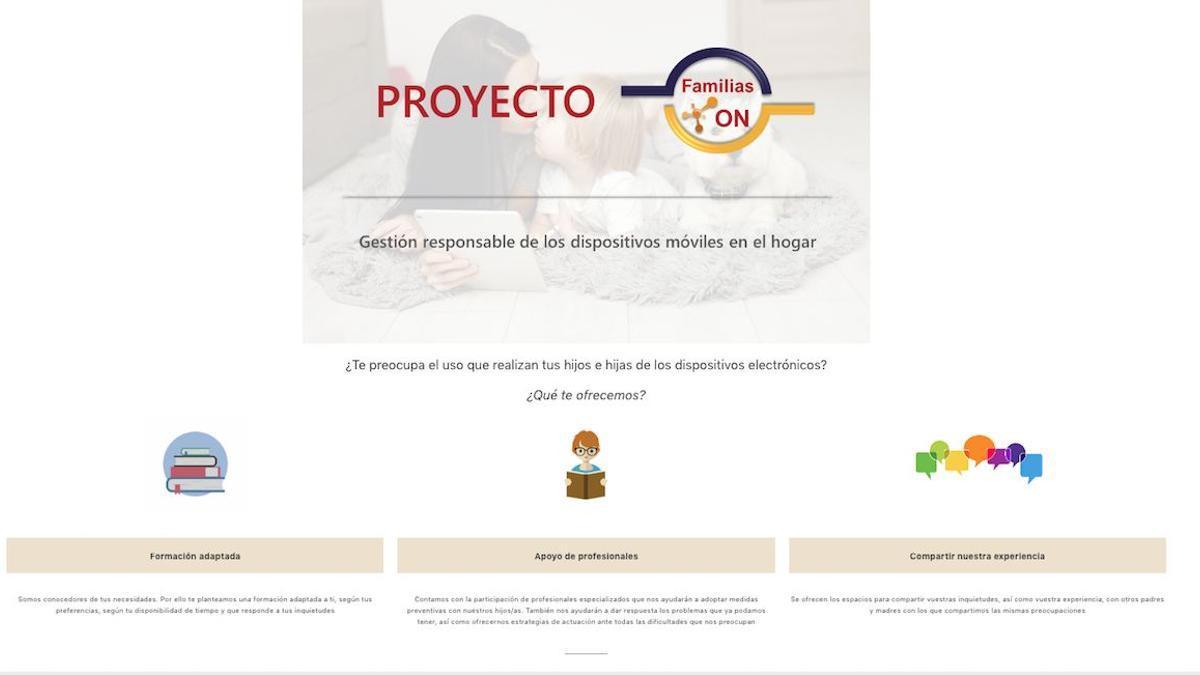 Web del proyecto 'Familias ON', de la UCO.
