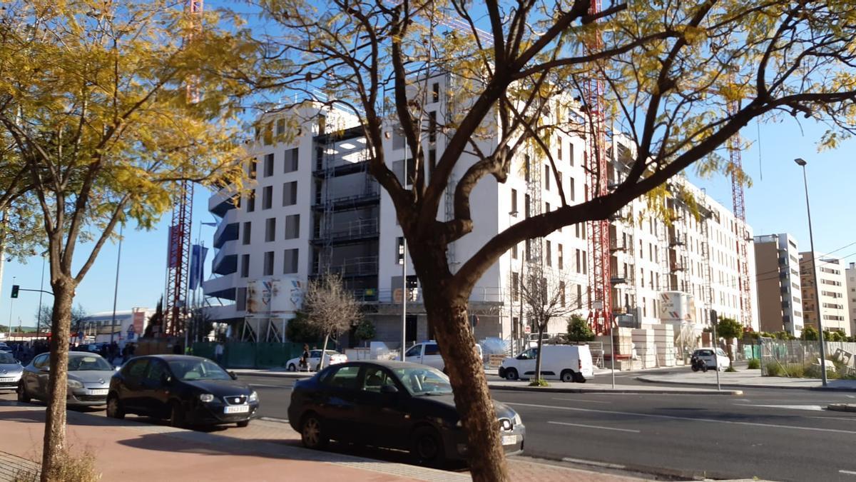 Edificio en construcción donde han ocurrido los hechos