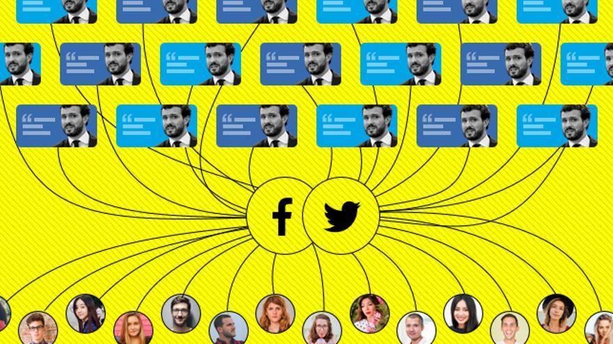 Cuentas falsas de Pablo Casado en Facebook e Instagram