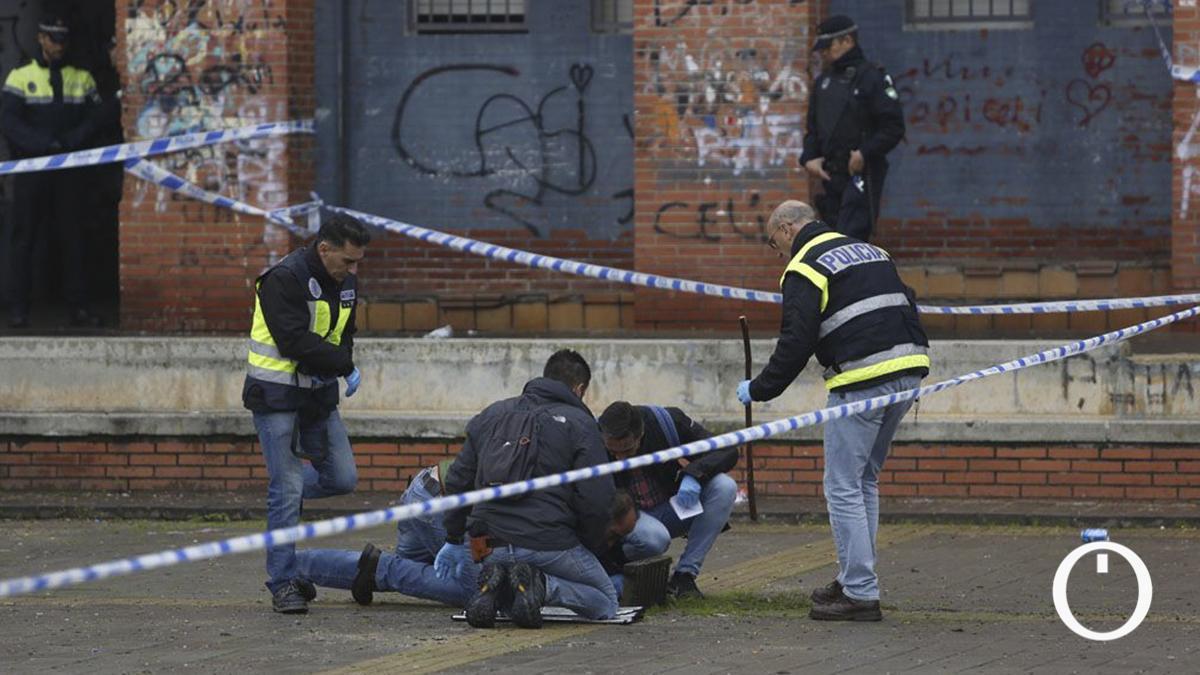 Policía en moreras tras la reyerta
