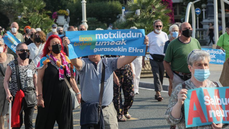 Marcha convocada por SARE a favor del acercamiento de los presos de ETA celebrada el 21 de agosto de 2021 en San Sebastián