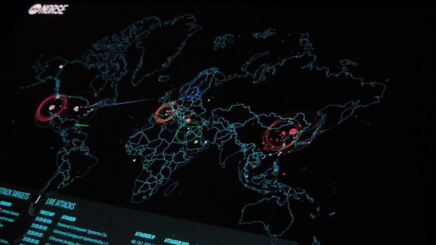 Ciberataques en tiempo real en el mapa de Norse