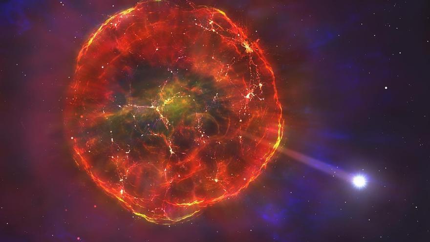 Una explosión termonuclear impulsa a una estrella surcando la Vía Láctea a toda velocidad