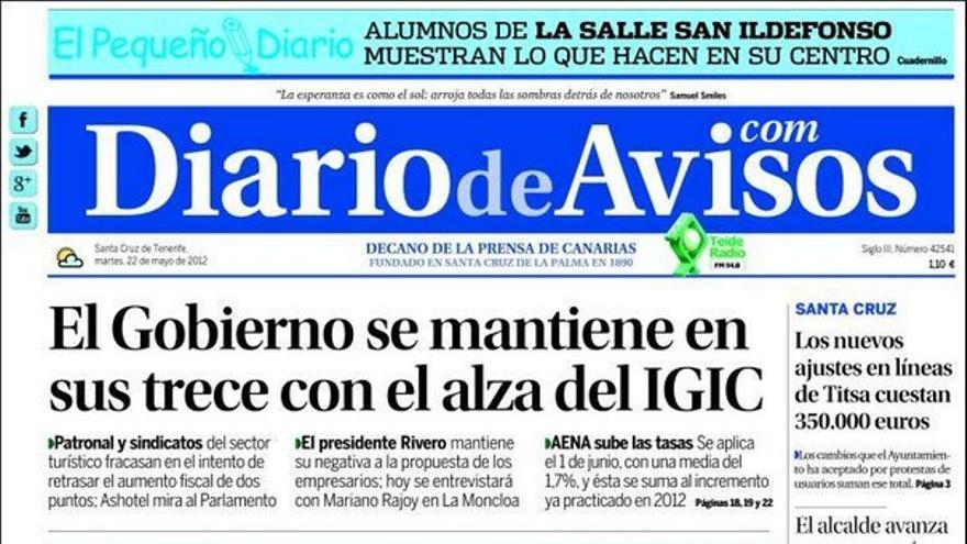 De las portadas del día (22/05/2012) #3
