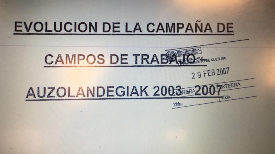 """Sello presentado por Sánchez Robles del """"29 de febrero de 2007"""" y sin número de registro de entrada"""