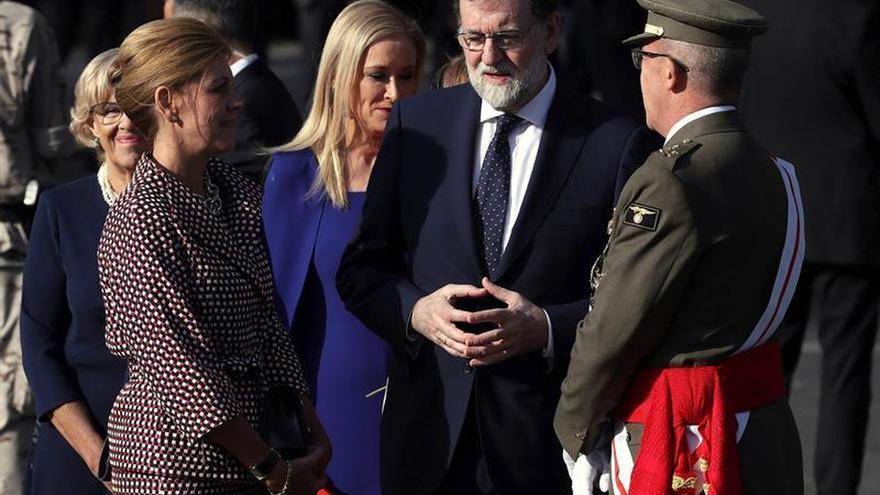 Rajoy y Cospedal acuden a la Base del Eurofighter caído tras saludar al Rey