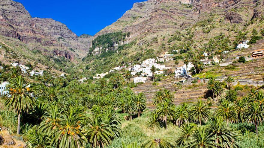 Vista general de Valle Gran Rey, en la isla de La Gomera. VIAJAR AHORA