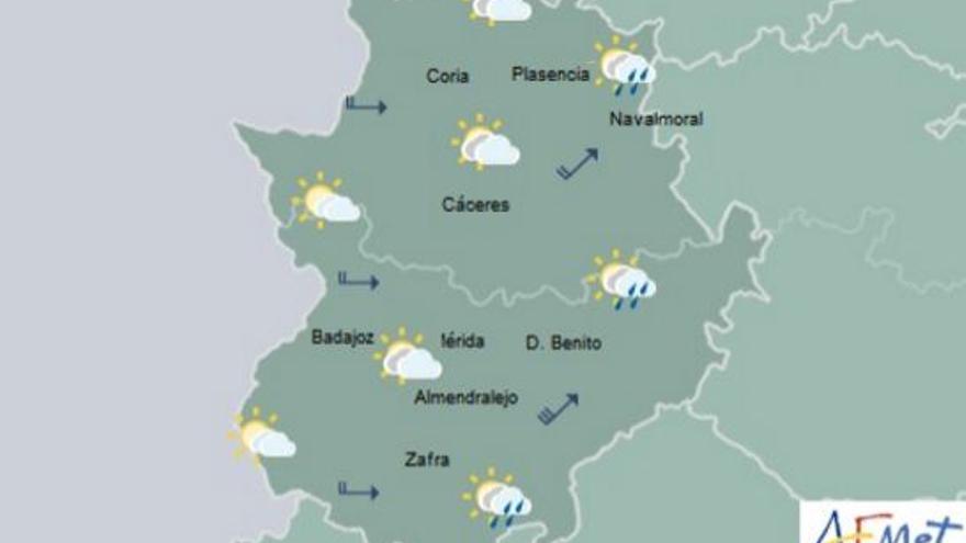 alerta amarilla lluvias Extremadura