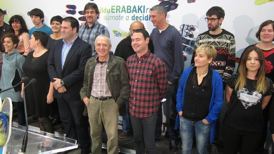 """EH Bildu quiere un grupo """"fuerte"""" en el Congreso ante una España que se está """"hundiendo"""""""