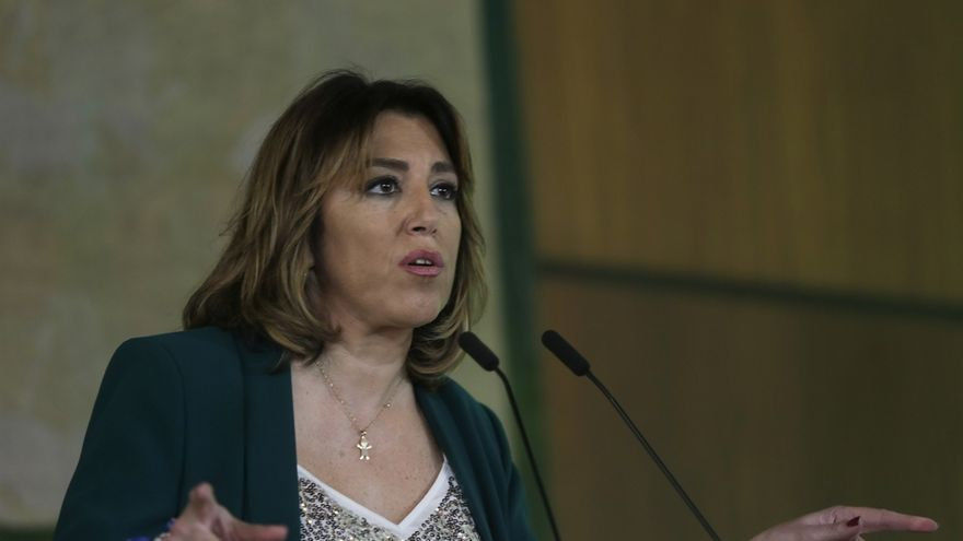 """Susana Díaz pide amplio consenso para reforma del Estatuto, que no puede estar """"al servicio"""" del actual Gobierno PP-Cs"""