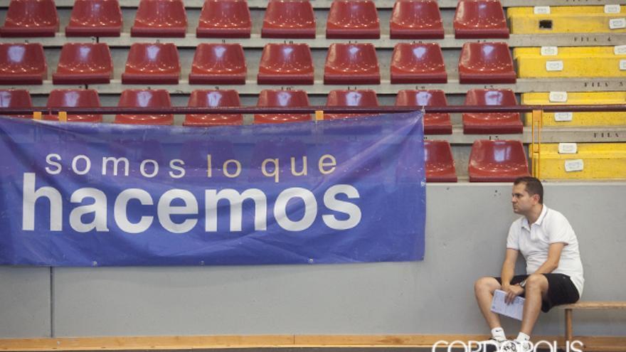 Rafa Sanz, en el Palacio Municipal de Deportes Vista Alegre.