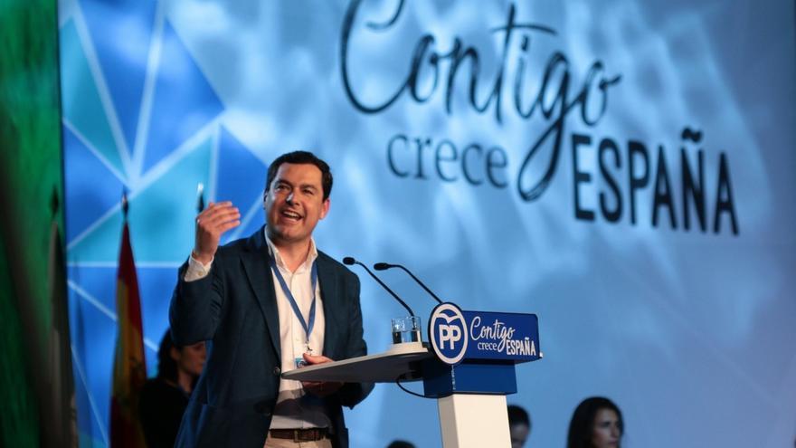 """Moreno exige a Susana Díaz que anteponga el interés de Andalucía al de Pedro Sánchez y pida no """"boicotear"""" los PGE"""