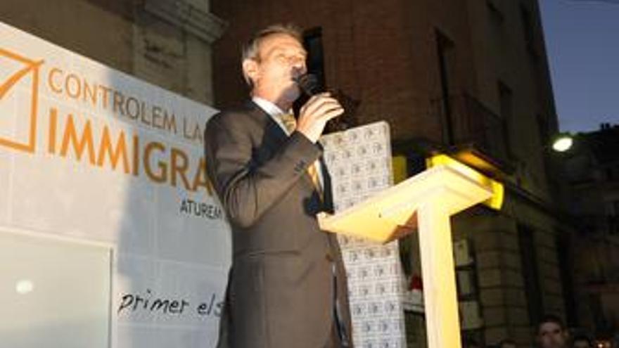 El president de PxC y candidato a la presidència a la Generalitat, Josep Anglada