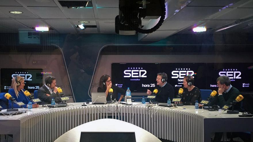 El president Ximo Puig en el debate de presidentes autonómicos organizado por 'Hora 25' de la Cadena Ser