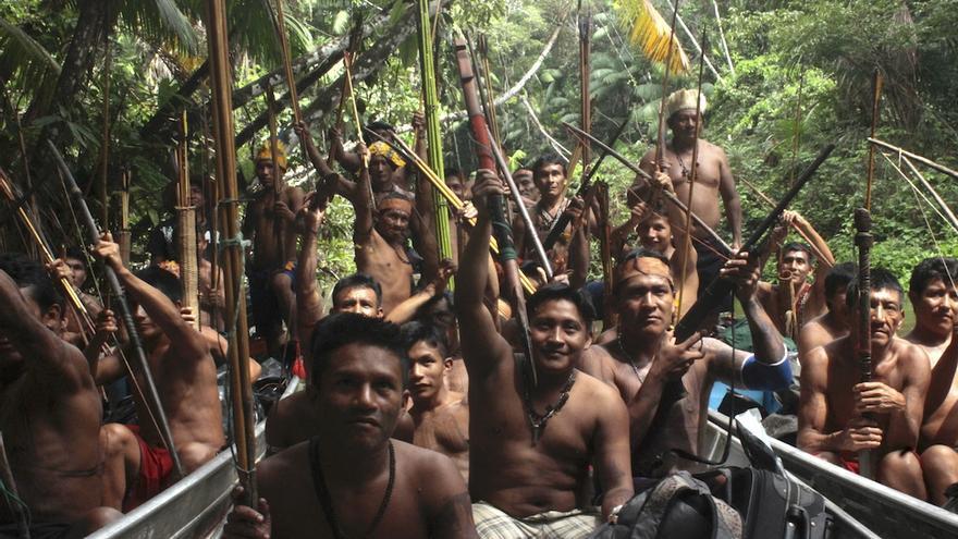 Integrantes del pueblo indígena Mundurukú