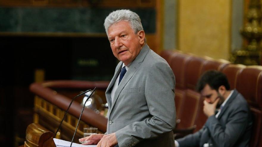 El diputado de Nueva Canarias Pedro Quevedo durante su intervención en el pleno del Congreso para votar la última prórroga del estado de alarma