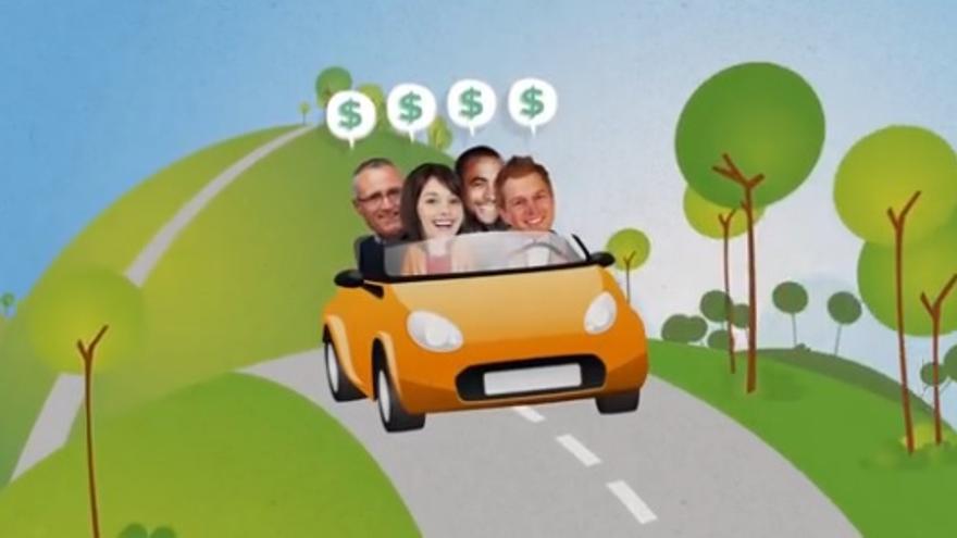 Captura de un vídeo promocional de BlaBlaCar