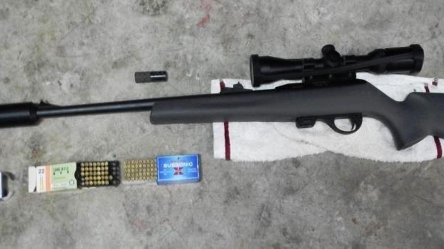 Denunciados cuatro vecinos de Gallipienzo por tenencia ilegal de armas y artes prohibidas para la caza y pesca