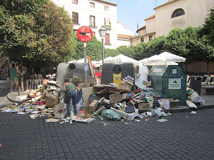 Imagen de la plaza de San Ildefonso tomada el pasado jueves | Foto :ACIBU