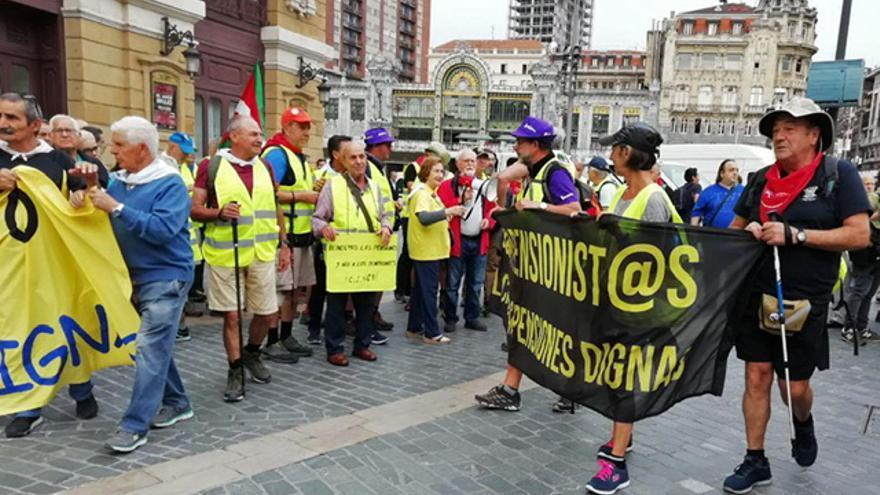 Pensionistas vascos en Bilbao