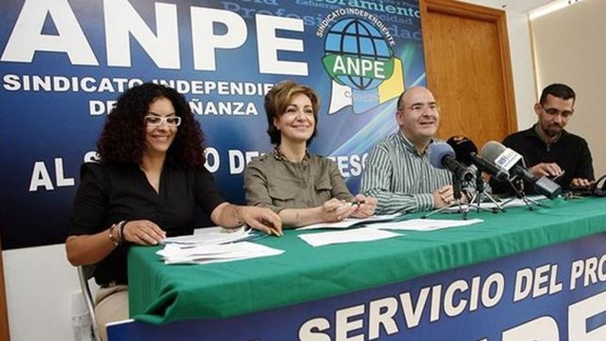 Pedro Crespo, responsable de ANPE Canarias (segundo por la derecha), en una imagen de archivo