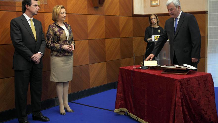 Gustavo Alcalde en su toma de posesión como delegado del Gobierno