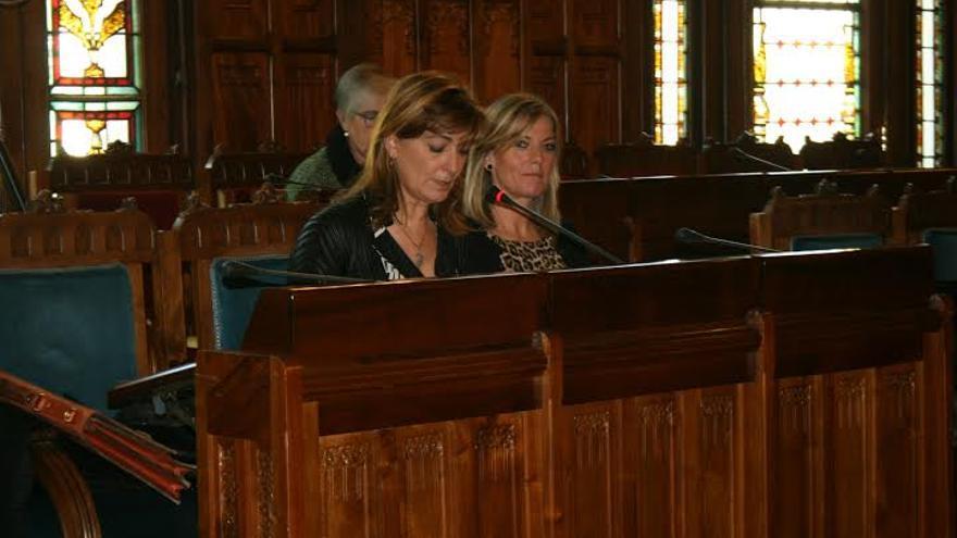 La consejera asturiana de Bienestar Social, Esther Díaz, en otra comparecencia en el parlamento autonómico