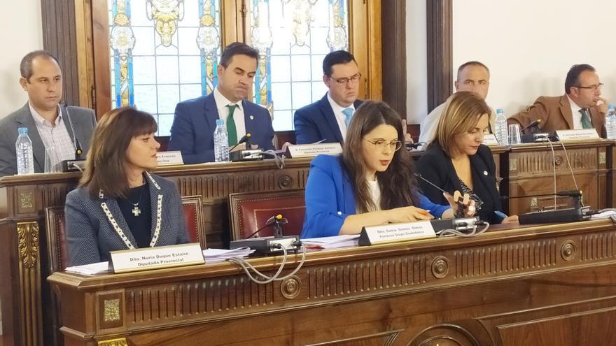 La bancada de Ciudadanos en la Diputación de Valladolid.
