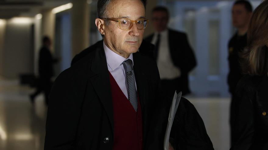 Jordi Carulla, copropietario de Agrolimen, llega a un juzgado en L' Hospitalet de Llobregat para declarar como imputado por fraude fiscal en febrero de 2011.