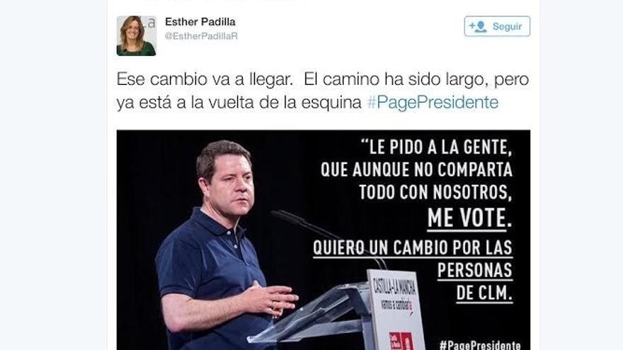 """PP denuncia al PSOE de C-LM por hacer """"propaganda política de Page"""" a través de Twitter en jornada de reflexión"""