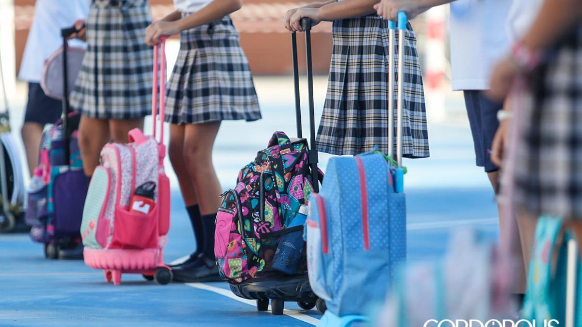 Imagen de la vuelta al colegio el curso pasado   ÁLEX GALLEGOS