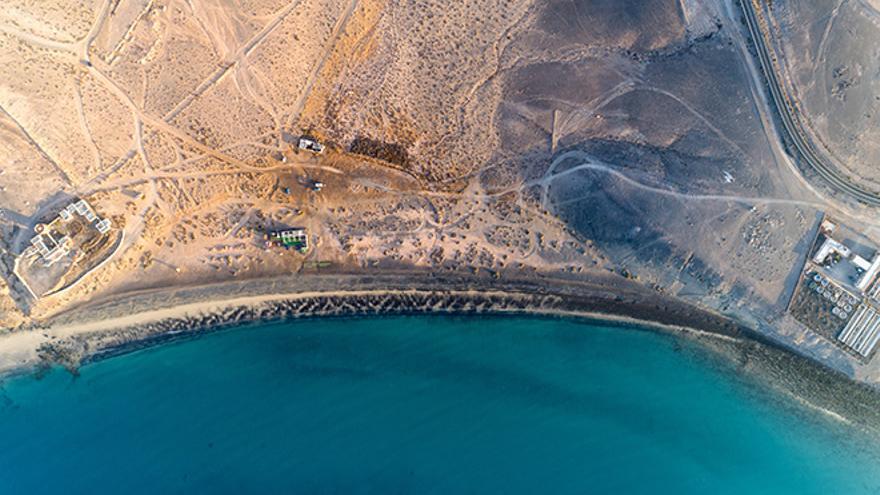 Matas Blancas, una playa de Fuerteventura amenazada por la edificación masiva de resorts turísticos.