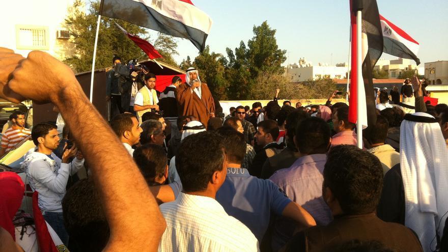 Ciudadanos de Bahrein manifestándose en 2011/ Mahmood al-Yousif