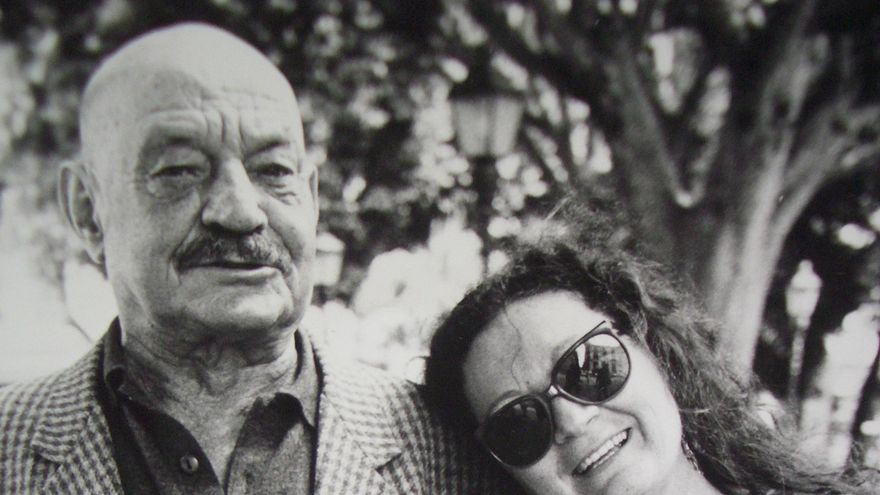 José Hierro y elsa López en La Laguna.