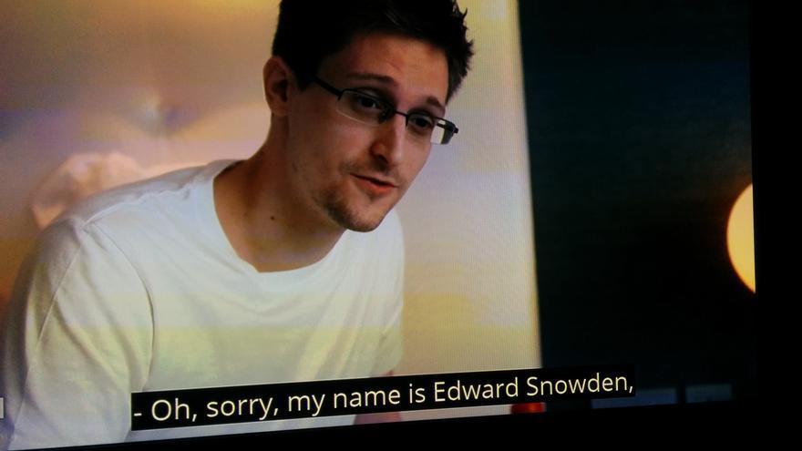 Edward Snowden, en una de las imágenes del documental de Laura Poitras, Citizenfour.