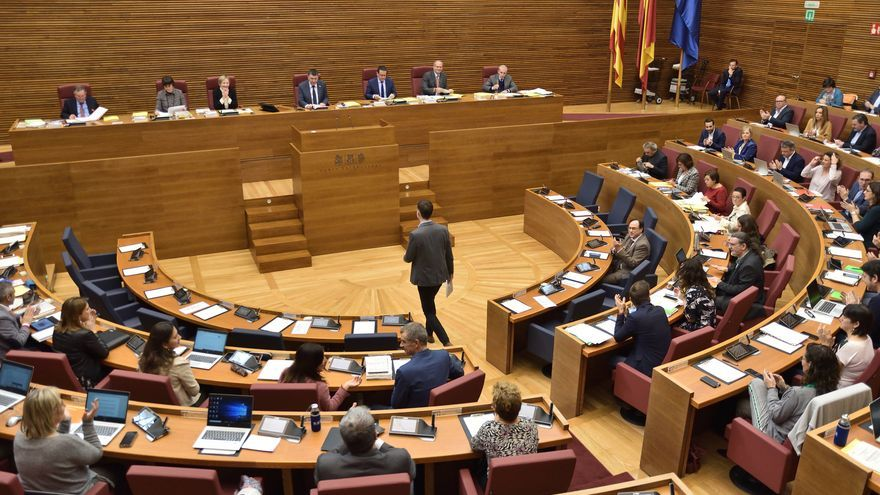 El Pleno de las Corts Valencianes durante el debate de la Ley de Acompañamiento a los Presupuestos de 2020.