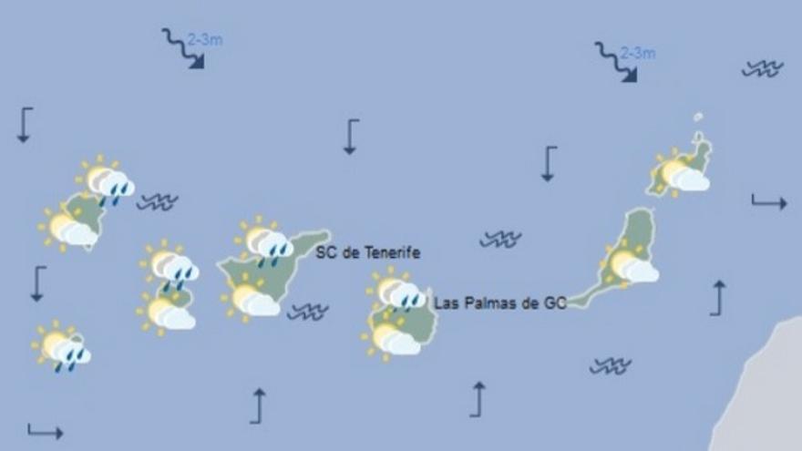 Tiempo en Canarias para este jueves, 22 de febrero