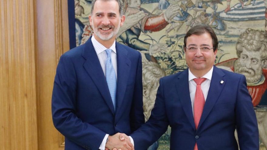El rey ha recibido al presidente de Extremadura, Guillermo Fernández Vara