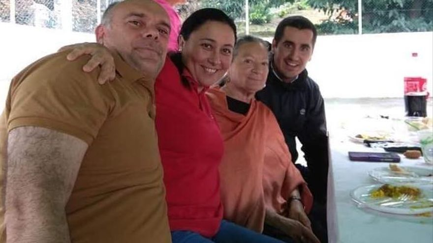 Fran Ferraz, Carmen Brito, Elsa López y Borja Pérez.