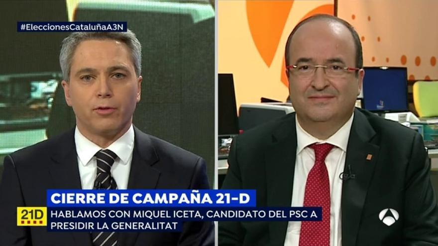 Vallés e Iceta en el especial de Antena 3 por el cierre de campaña