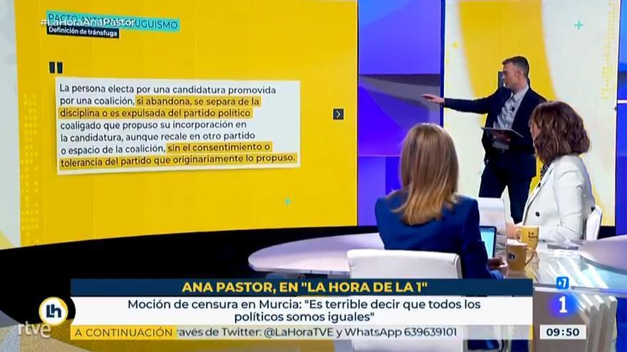 Ana Pastor (PP), en 'La hora de La 1' de TVE